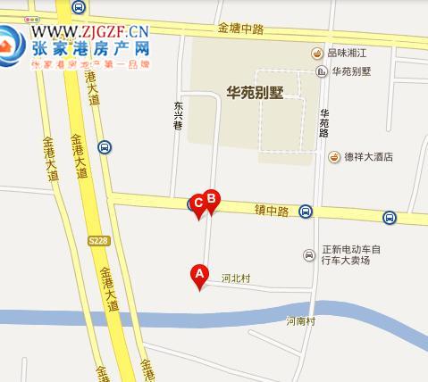 塘市河北村小区实拍交通位置图